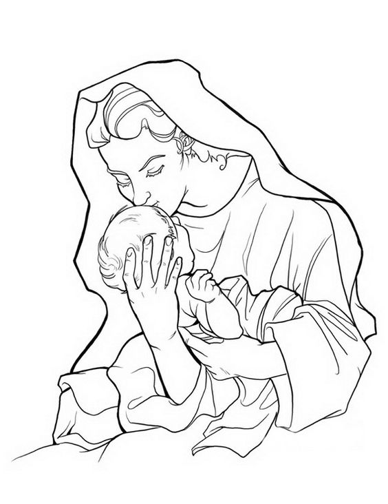 assumption of mary coloring pages - photo#16