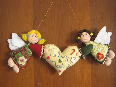 Arte e Mimos - Artesanato em feltro: Feliz Natal! Natala Pinterest ...