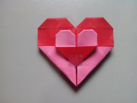 Como Hacer Corazon Doble De Papel Origami Youtube Origami En