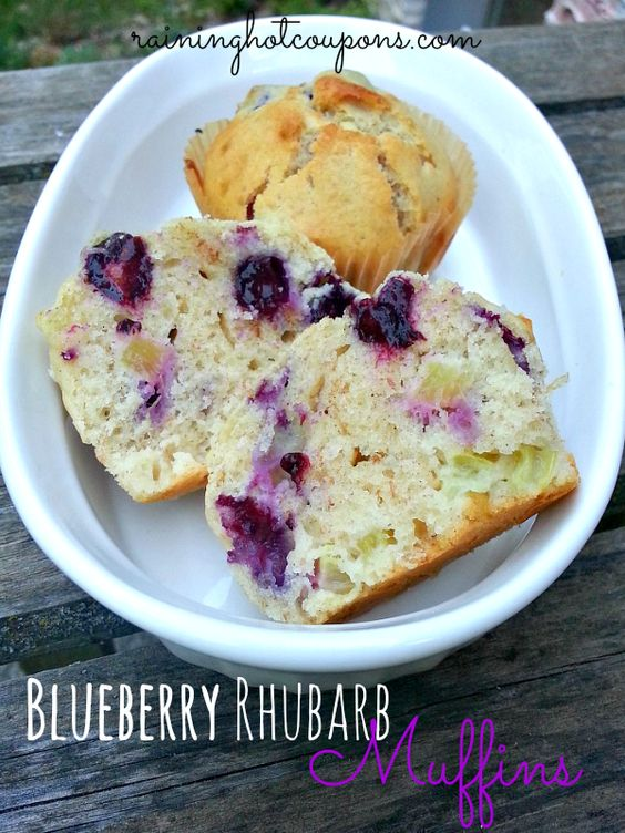 Blueberry Rhubarb Muffins Recipe