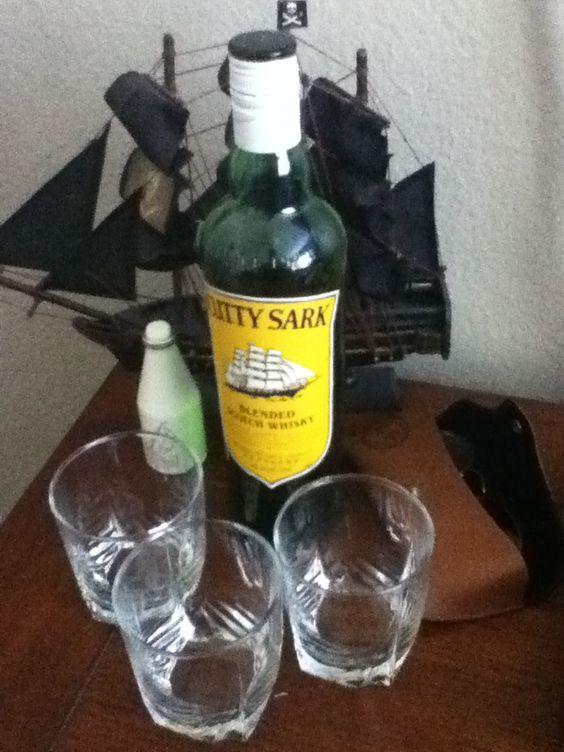 Man corner, Cutty Sark scotch, old spice...