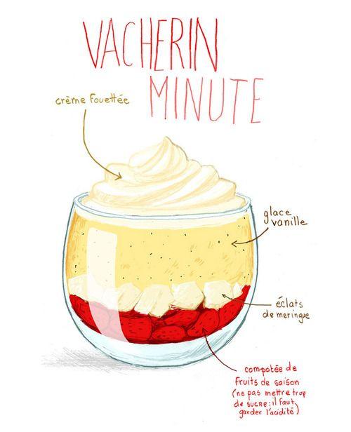 © Stéphanie Rubini - Vacherin minute remolacer eclat de meringue par noix de coci caramelisee