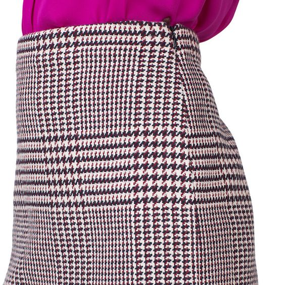 Tommy Hilfiger. Wool Skirt - houndstooth, mini, plaid