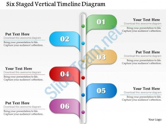six staged vertical timeline diagram powerpoint template Slide01 - roadmap powerpoint template