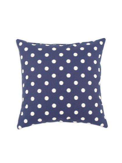 "Ikat Dot Felix Blue 17"" Pillow #poachit"