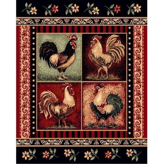Cocka-doodle-doo! Rooster area rug.