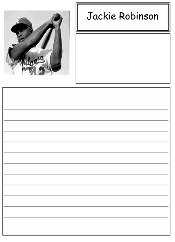 Jackie Robinson Biography And Paper On Pinterest