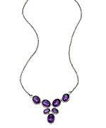 Argento Vivo Faceted Purple Amethyst Pendant Necklace