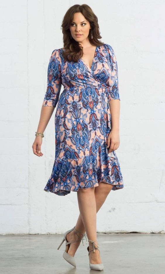 Plus Size Flirty Flounce Wrap Dress {affiliate link | Nice, Wrap ...