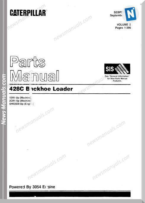 Caterpillar 428c Backhoe Loader Models Parts Manual Backhoe Loader Backhoe Manual