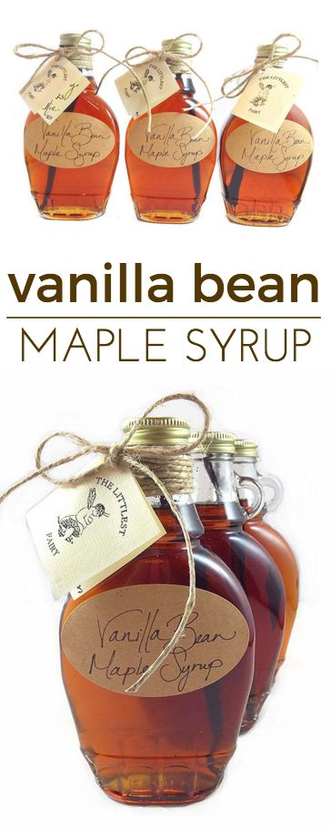 You'll love this quick, easy recipe: DIY Vanilla Bean Maple Syrup made from pure maple syrup and vanilla beans.