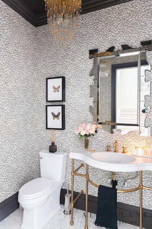 Rachel Parcell S Powder Bath Alice Lane Interior Design Photo
