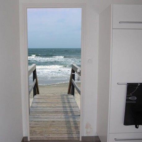 Sticker porte ponton pour la d co des portes ou murs - Stickers pour porte d entree ...