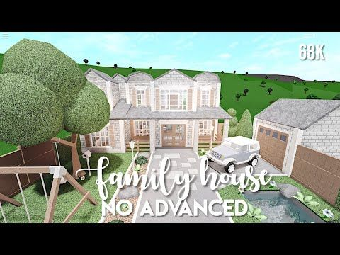 No Advanced Placement Family House Bloxburg Speedbuild Youtube In 2020 Family House Plans Two Story House Design House Plans Mansion