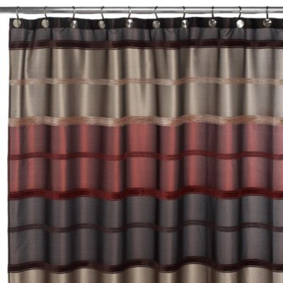 Guest bathroom shower curtain rust 72 inch x 72 inch for Shower curtain savers