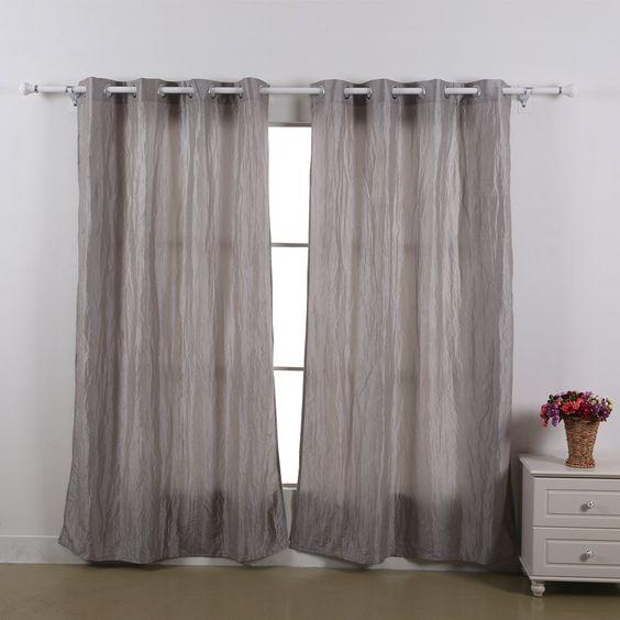 Living Room Curtains amazon living room curtains : $19.99/pair Amazon.com - Deconovo® Faux Silk Crushed Taffeta ...