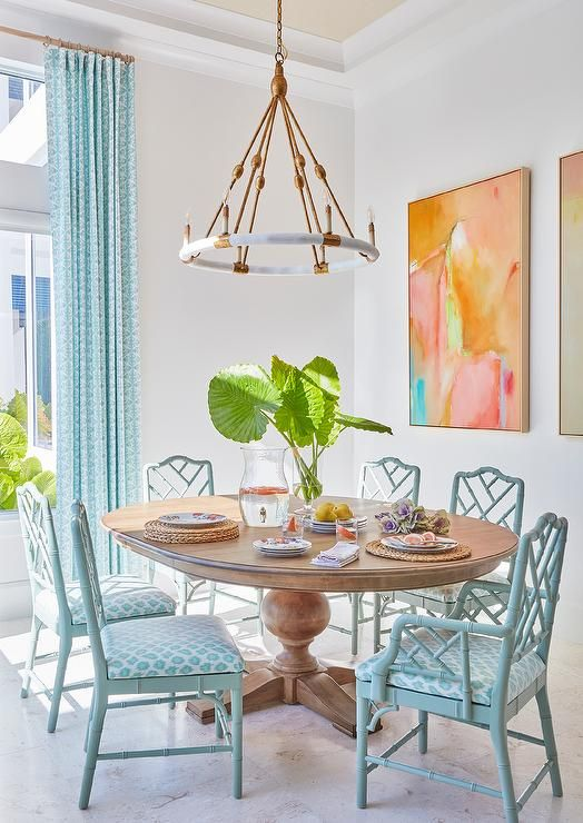 Neutrals And Pops Of Vibrant Color Design Matters Tropical Dining Room Dining Room Colors Dining Room Decor Top tropical dining rooms vibrant