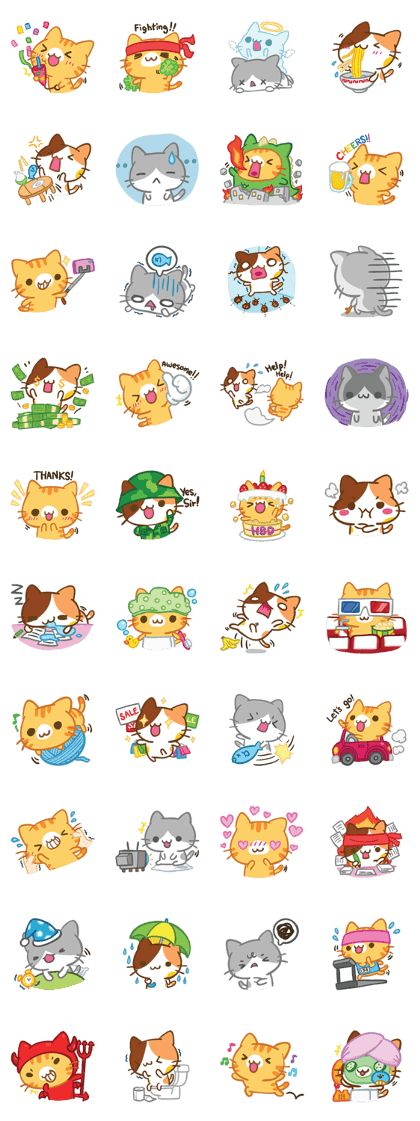 Have you wondered what your lovely cats want to tell you? Let's enjoy lovely and adorable emotions that explain how your cats feel here ... meow ^^