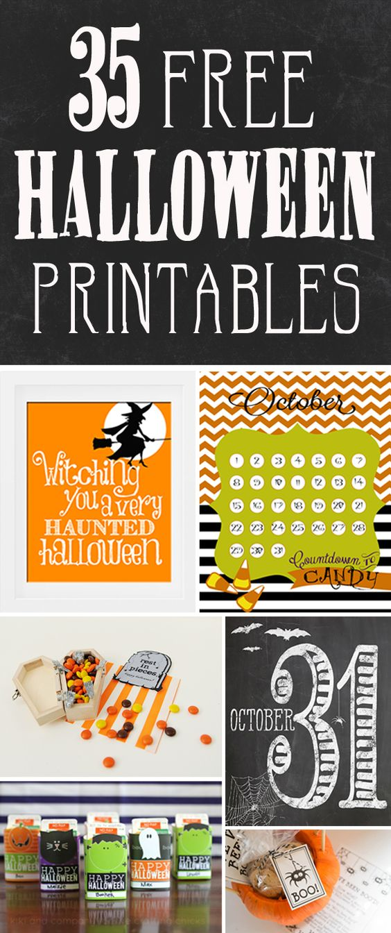 35 Free Halloween Printables - Pretty My Party #free #halloween #printables