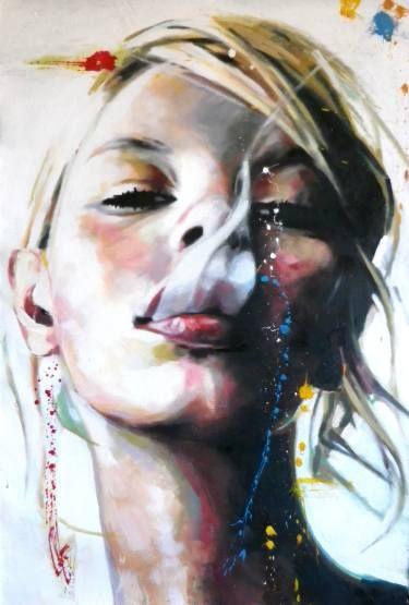 "Saatchi+Art+Artist+Thomas+Saliot;+Painting,+""Smoke""+#art"
