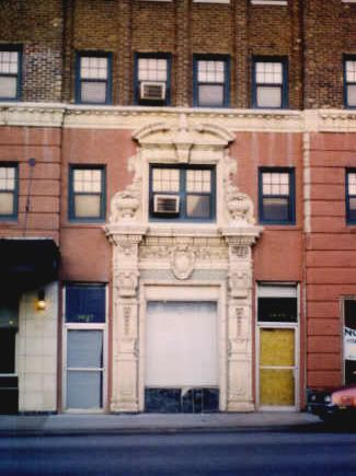 City Apartment Building Entrance the front entrance to the hawthorne apartment building near 39th