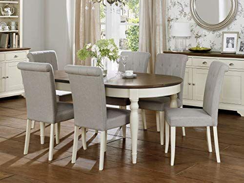 Everhome Designs Vegas Walnut 9 Piece Extension Oval Dining