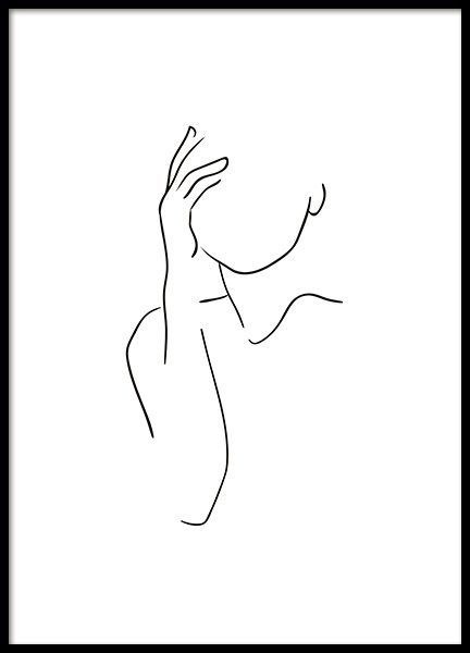 Shoulder Lineart Poster In The Group Poster Illustration At