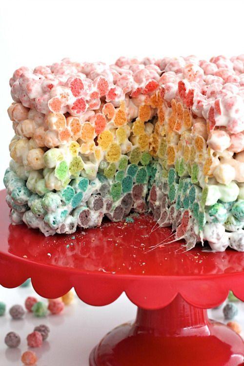 Rainbow Cereal Cake Really nice recipes. Every hour. Show me  Mein Blog: Alles rund um die Themen Genuss & Geschmack  Kochen Backen Braten Vorspeisen Hauptgerichte und Desserts # Hashtag
