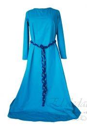 Vestido medieval en algodon 100%. Ajustable en la espalda.