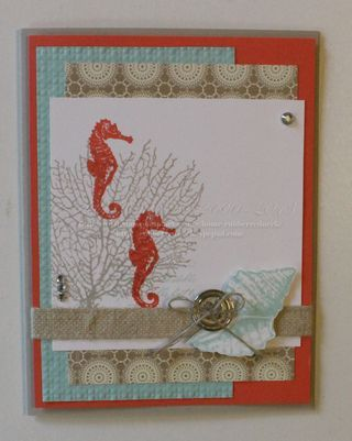 Sea Horse Card- By the Tide