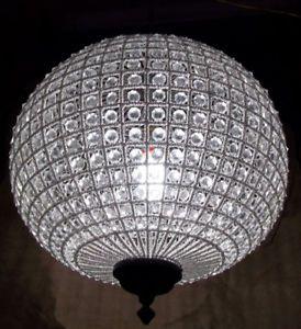 Round Chandelier Light: Huge Br Crystal Gl Round Chandelier Lamp Lantern Ebay,Lighting