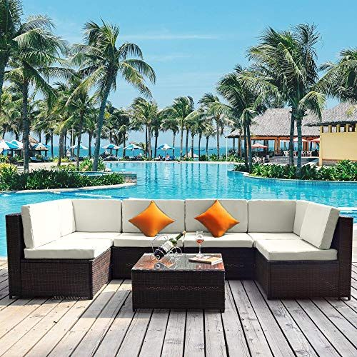 Best Seller Glchq Outdoor Patio Furniture Set Pe Rattan Sectional