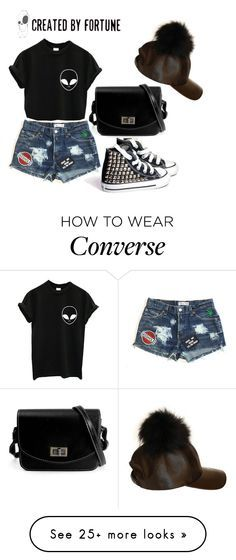 """CREATED.BY.FORTUNE!!!!"" by snjezanamilovanovic233 on Polyvore featuring Converse, vintage, women's clothing, women's fashion, women, female, woman, misses and juniors"