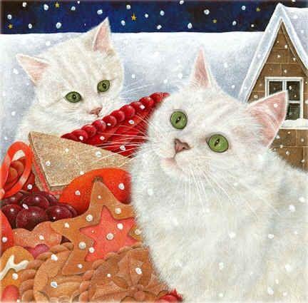 Art of Ann Mortimer: Art Cats, Art Official Cat, Artistic Cats, Cats Christmas Community Board, Cats Galore, Christmas Cat, Cats Anne, Cat Art Cont