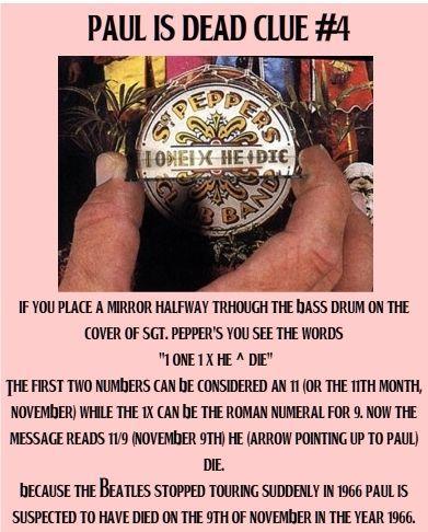 Paul is dead - clue #4