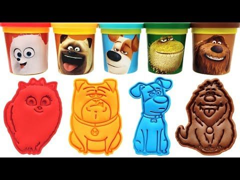 Play Doh The Secret Life Of Pets 2 Molds Toys Dragon Max Mel