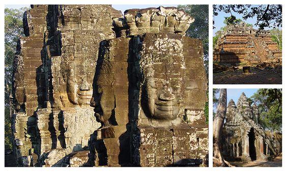 Angkor Thom ngày nay chỉ còn những chi tiết bằng đá