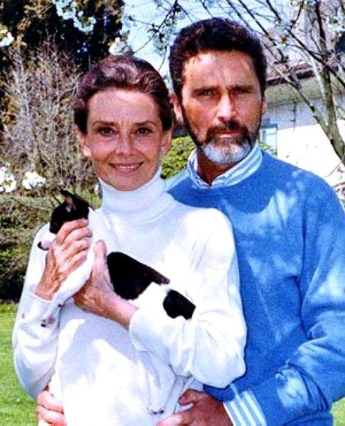 Audrey Hepburn And Robert Wolders Audrey Hepburn