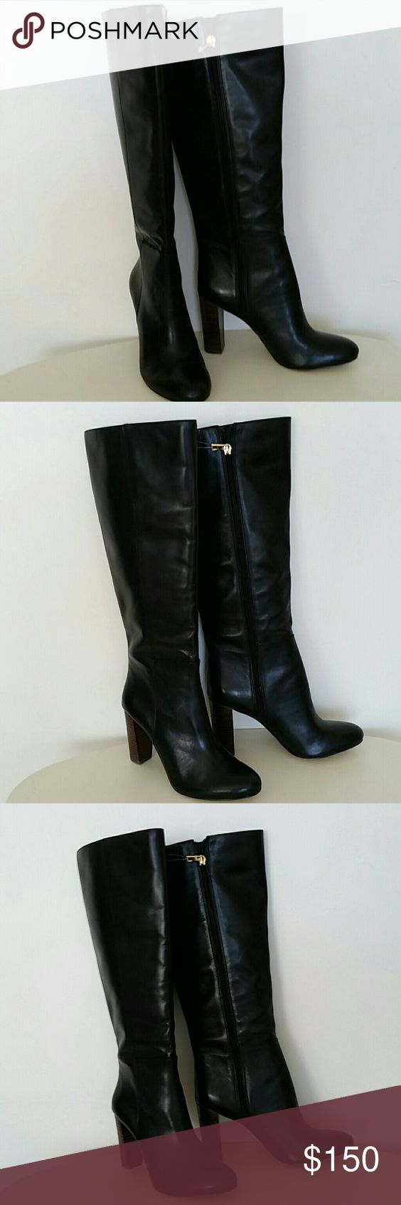 Ann Taylor boots upper leather Ann Taylor boots  store display upper leather  new never used no tags no box size 6 1/2 M Ann Taylor Shoes Over the Knee Boots