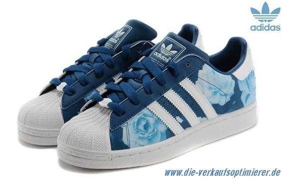 Blau Weiß Blau Rosa Damen Schuhe Adidas Superstar Trainers Größe: EUR 36,37,38