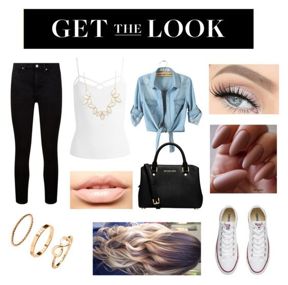 """""""Get the look!"""" by hazellgarcia ❤ liked on Polyvore featuring Paige Denim, Sans Souci, Converse, MICHAEL Michael Kors, MDMflow, Charlotte Russe, rockerchic and rockerstyle"""