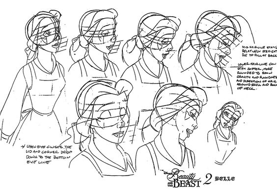 Anime Character Design Program : Belle animator s sketches how to draw disney characters