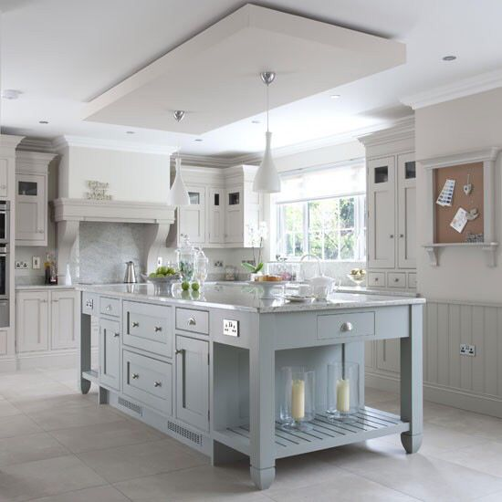 Pale Green Kitchen Paint: Pale Blue Grey And White Kitchen