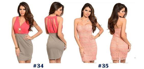 Vestidos Casuales A La Moda - Bs. 7.500,00 en MercadoLibre