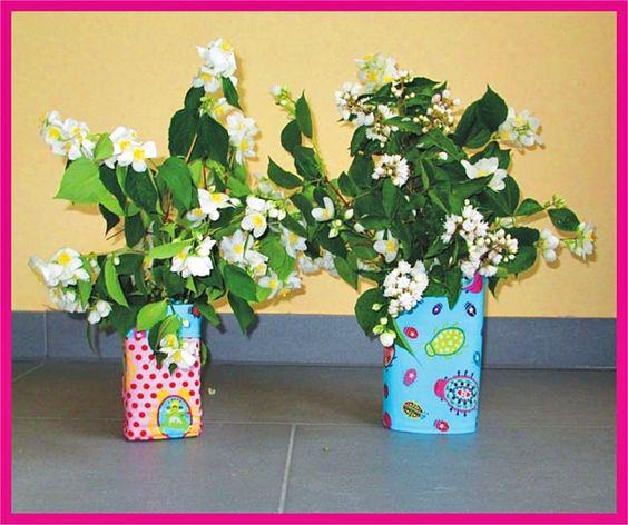 Blumenvase nähen I KINDERleicht und schön   Nähen mit Cherrygrön: SommerSause: Genähte Vasen aus Tetrapacks