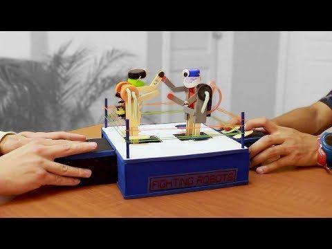 Como Hacer Robots De Pelea Con Palitos De Helado Youtube