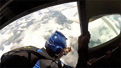 skydiving animated GIF