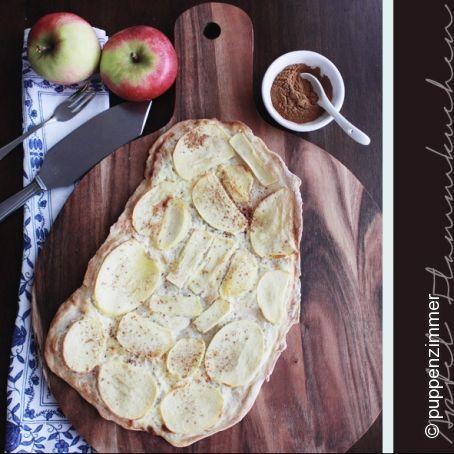 Apfel Flammkuchen