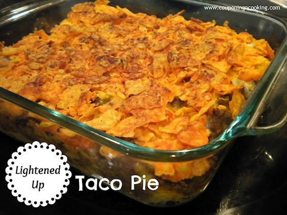 Lightened Up Taco Pie   Food: Main Dishes   Pinterest   Taco Pie ...