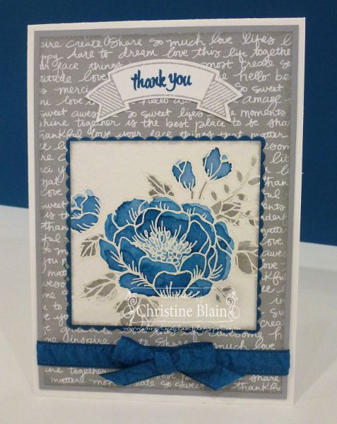 HAPPY HEART CARDS: STAMPIN' UP! BIRTHDAY BLOOMS IN DAPPER DENIM